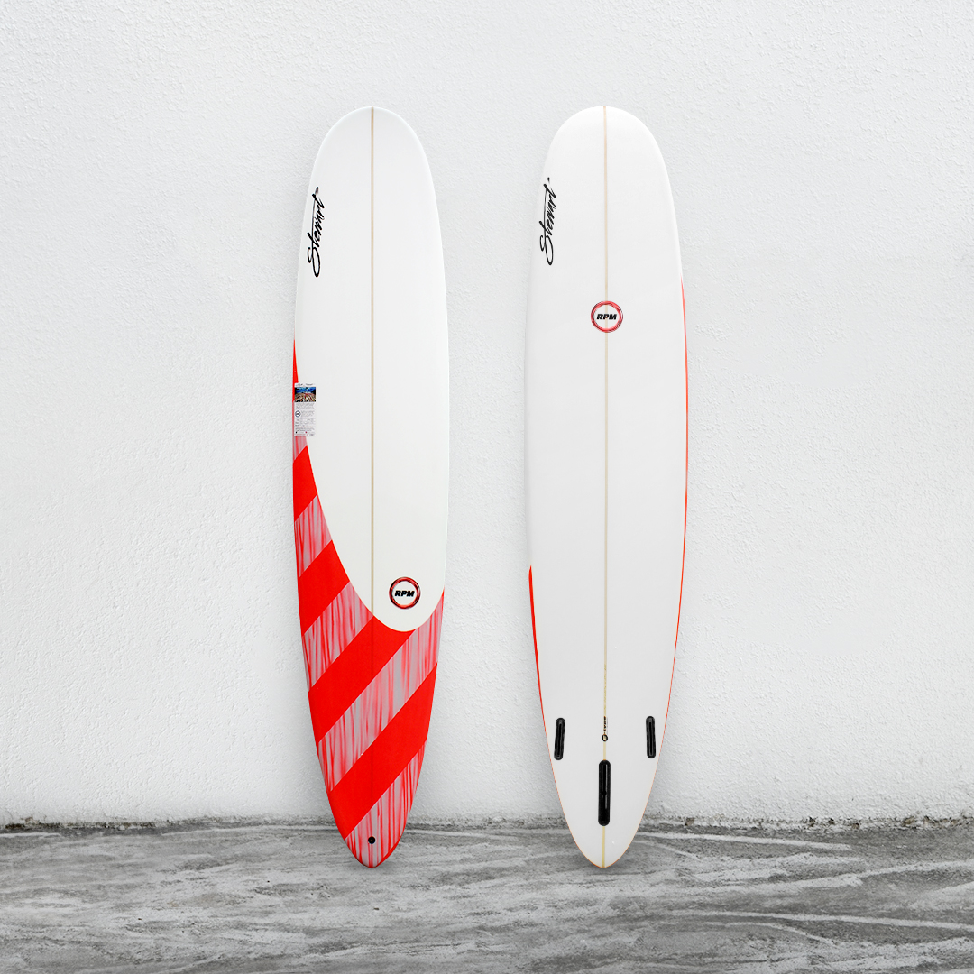 "RPM 9'0"" White/RedPinkStripe/White"