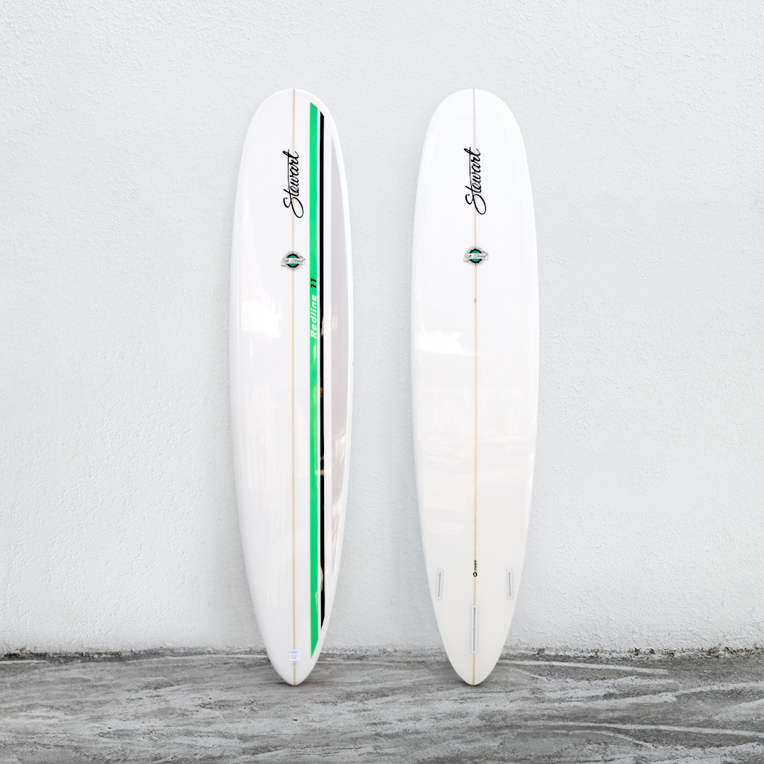 "Redline 11 9'0"" White/GreenStripe/White"