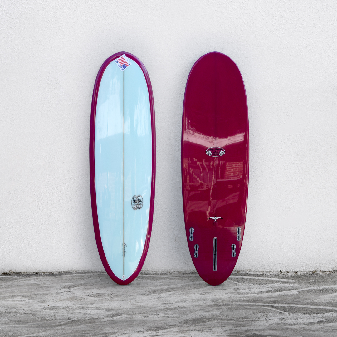 "Scorpion II 6'2"" Mint/Burgundy"