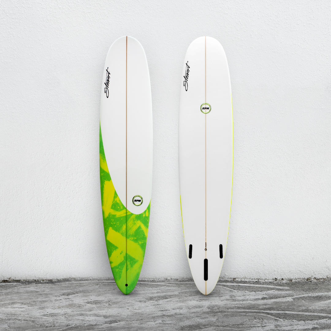 "RPM 9'0"" White/YellowGreenBrush/White"