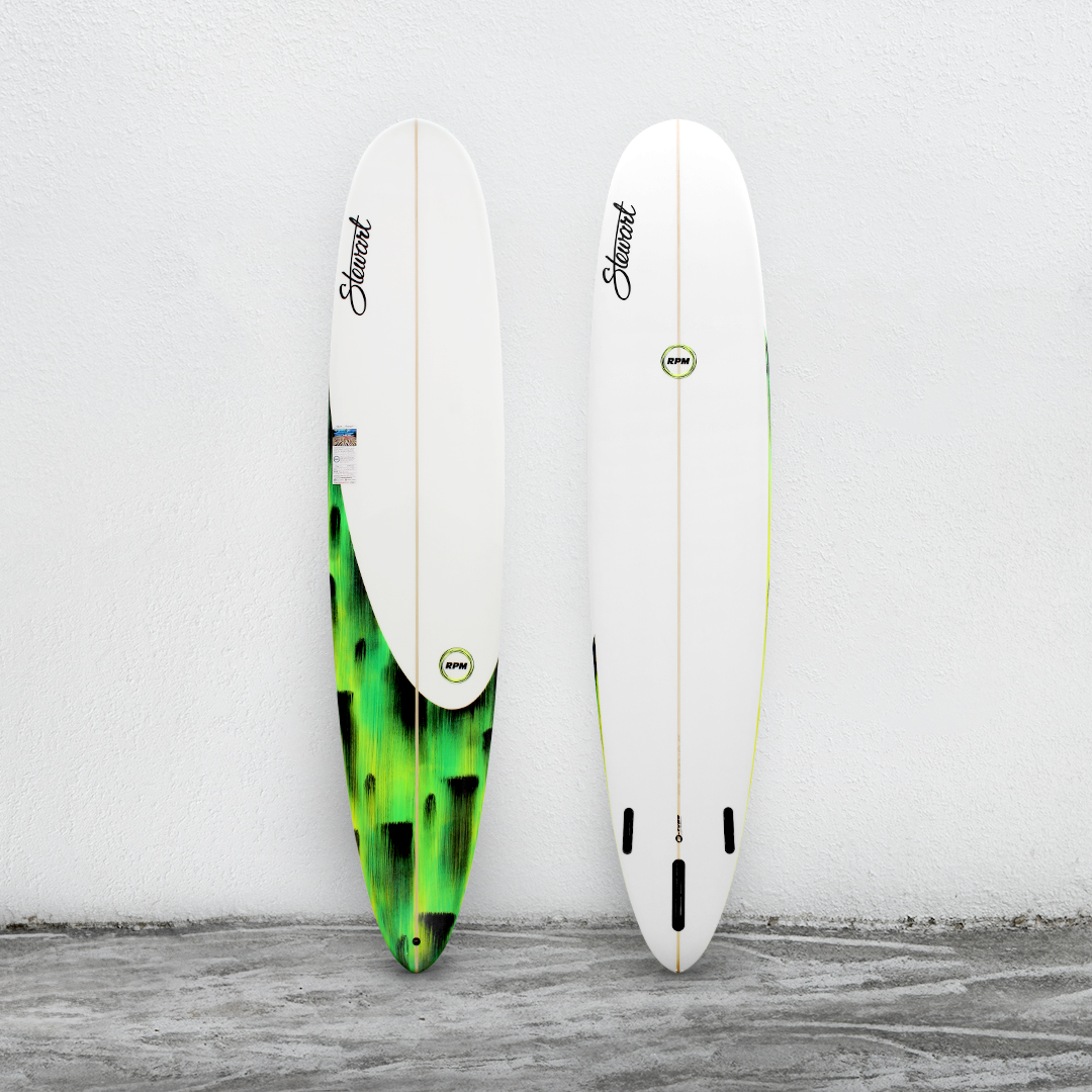 "RPM 9'0"" White/GreenBrush/White"