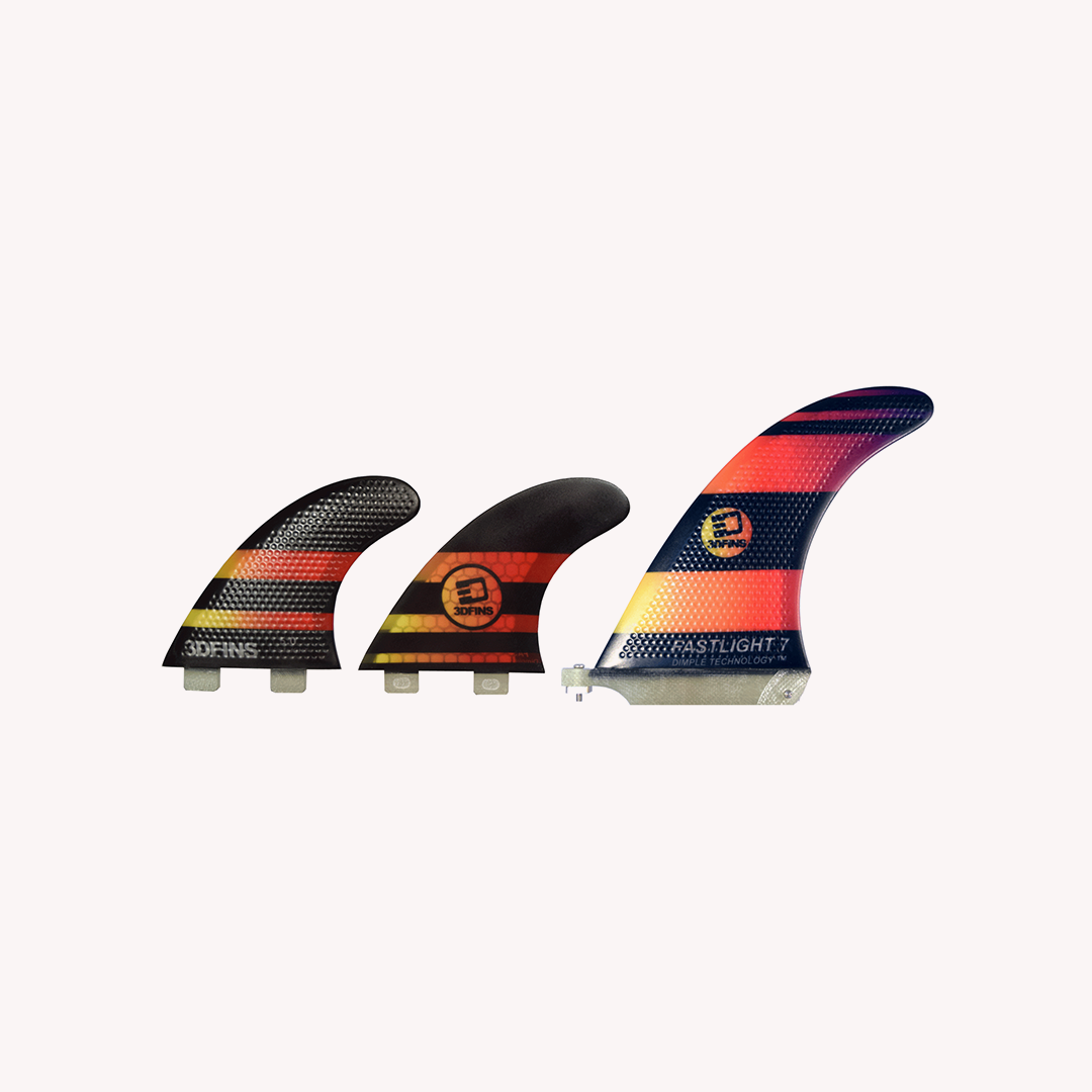 "FASTLIGHT - Longboard Fin Set 7"" (for FCS/futures.)"