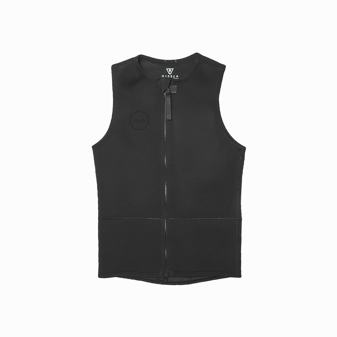 2mm Front Zip Vest (​Stealth)