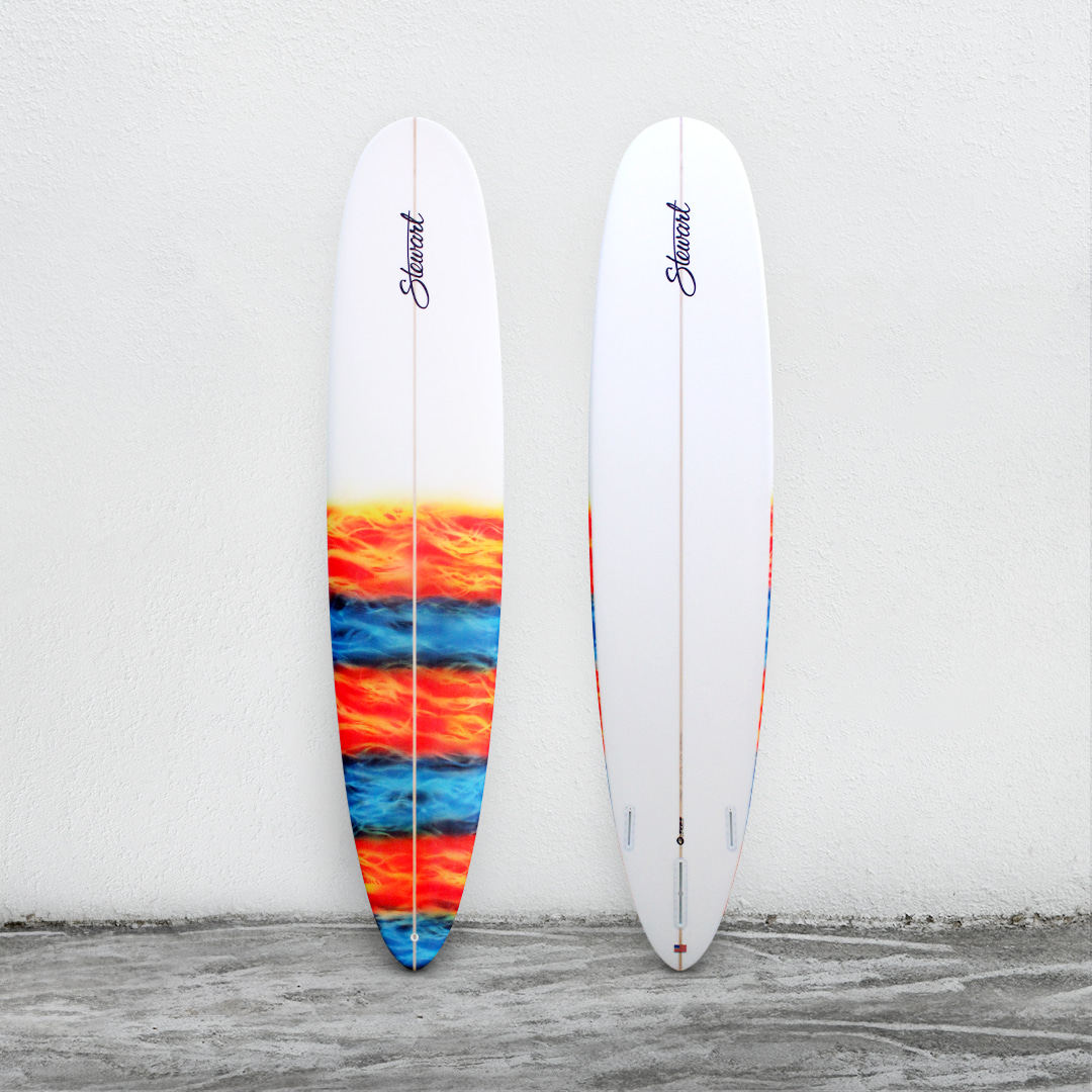 "RPM 9'0"" White/Orange&Blue Lava"